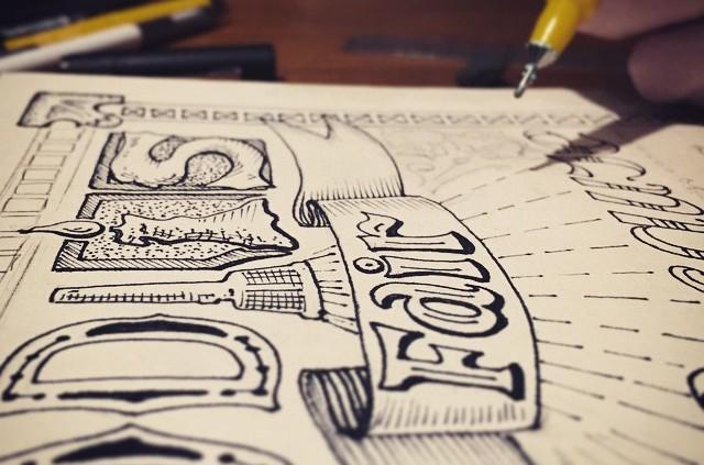 Hand lettering tutorial inspired inking