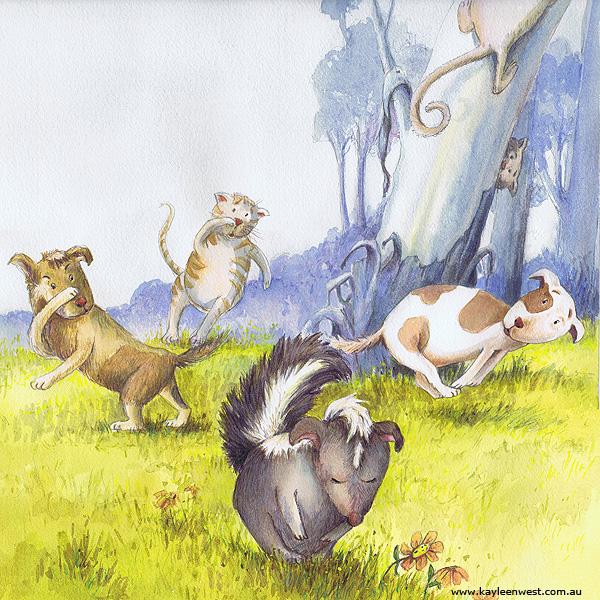 Scattered - Children's Book Illustration