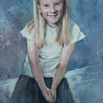 Child's Portrait in Watercolour & Gauache