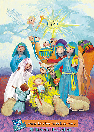 Children's Illustration: Baby Jesus