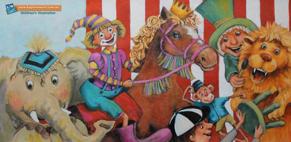 Children's Book Illustration - Double Page Spread - Circus