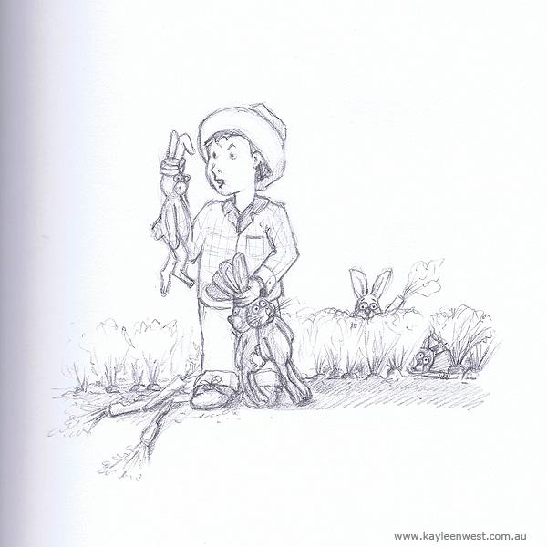 Childrens Illustration: Sketch - Gotcha