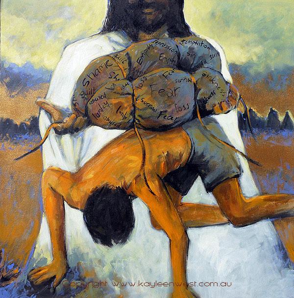 Acrylic Painting: Heavy Laden