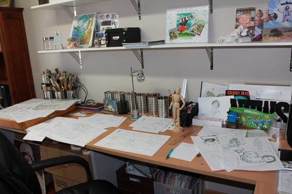 New picture book in progress in my studio. Without Me sketches.