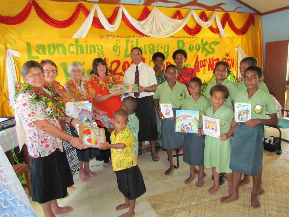 The beautiful children from one of the 22 remote schools in Fiji that now have a library