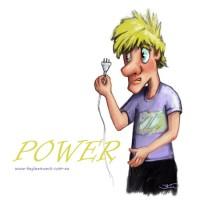 Children's Illustration, cartoon, editorial. No Power - digital illustration.