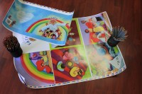 Printer's press sheet proofs. Children's picture books.