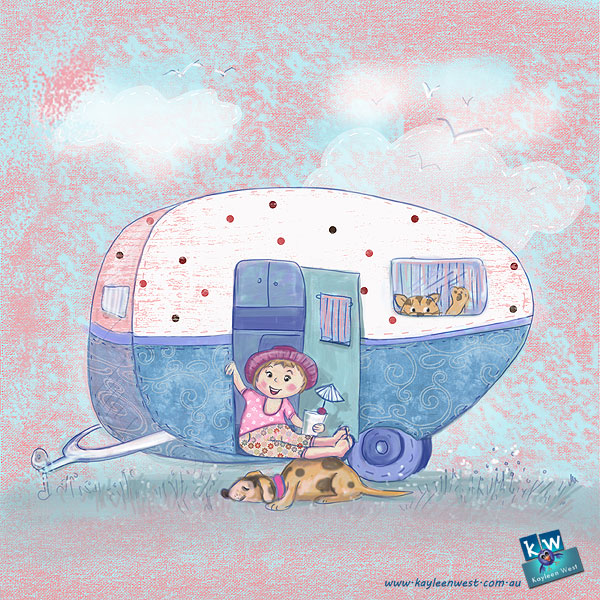 52 week illustration challenge. Gift card Challenge #illo52weeks Caravan