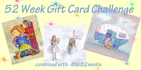 52 week illustration challenge. Gift card Challenge #illo52weeks