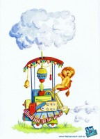 52 week gift card illustration challenge #illo52weeks - Machinery. Watercolour
