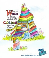 When your wold lacks colour, you can share mine. My inspirational quote and illustration for the them colour.