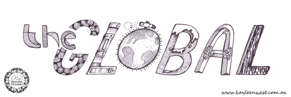 Hand Lettering Tutorial. MATS Bootcamp Global poster lettering