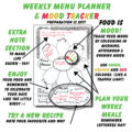Bullet Journal Meal Plan and Mood Tracker Page