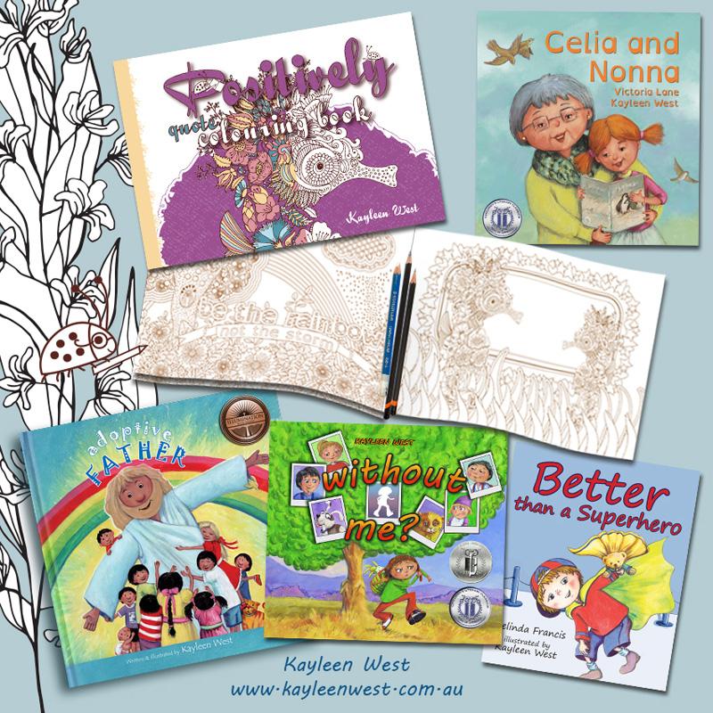 Books by Kayleen West; author. illustrator, designer