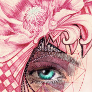 Eyes To See: Christian Illustration, Matthew 13:15-17 Eyes of a prophet - detail