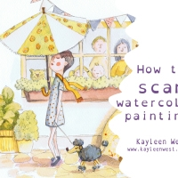 How to scan watercolours and use the clone stamp tool.