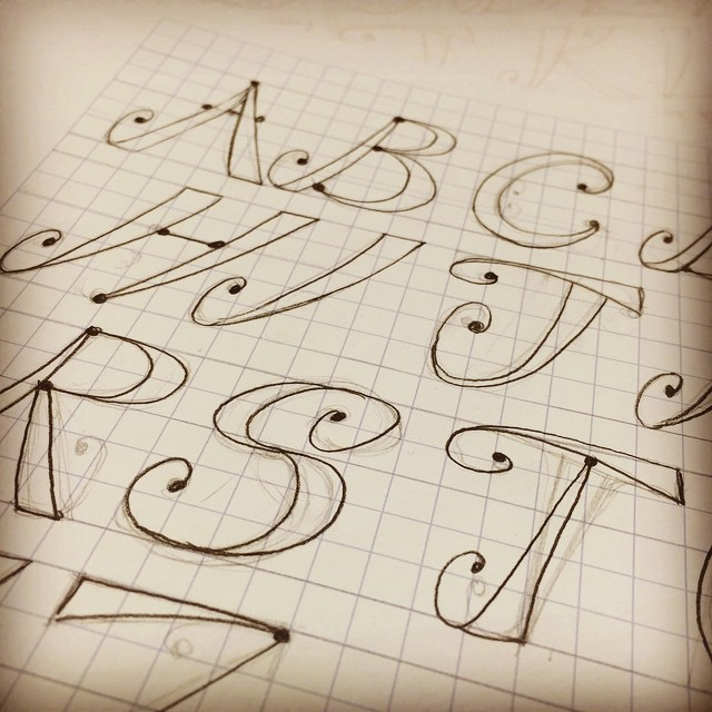 Hand lettering tutorials on Illustrated typography and hand lettering. Jennifer Coyle Skillshare class assignment #the100daychallenge