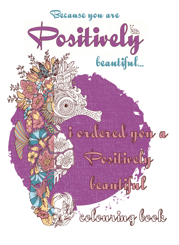 Free printable gift card voucher: Positively Colouring Book
