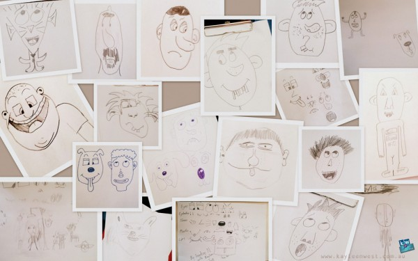 Scotch College Student's cartoons from workshop.