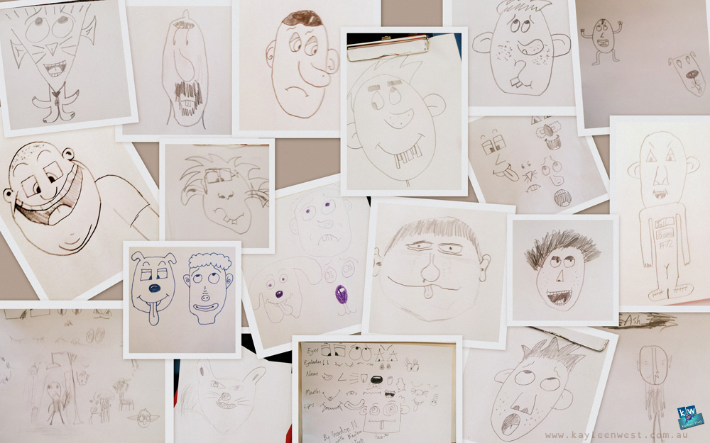 Scotch College Student cartoons from workshop.