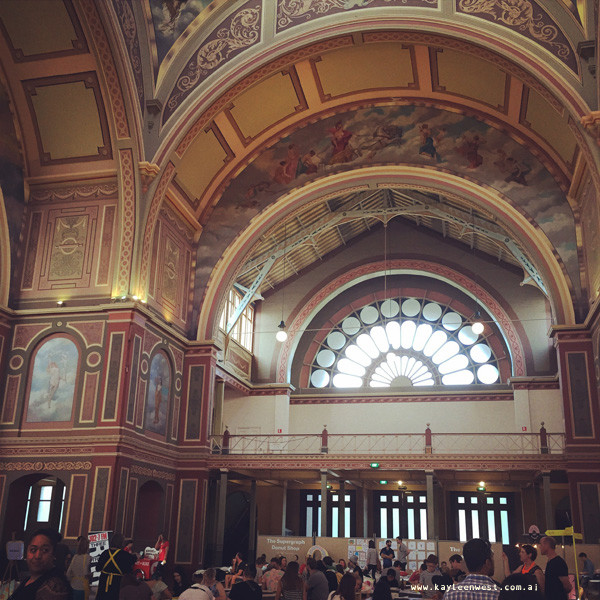 Interior of the Royal Exhibition Buildings - Supergraph Contemporary Graphic Art Fair