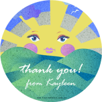 Thank You Sunshine sticker badge