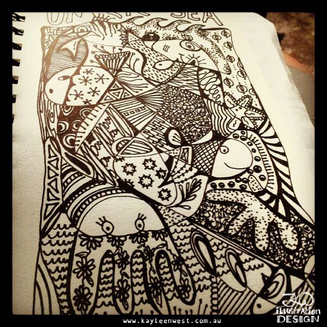 Easy steps to zentangle? Doodling for fun.