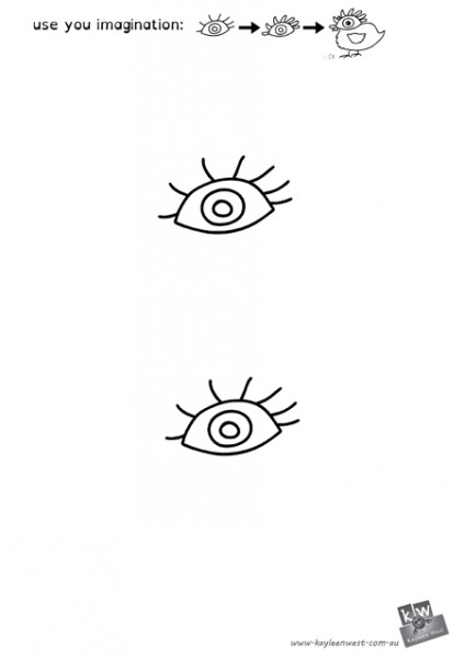 Download eye template for drawing exercise: Eye and Imagination