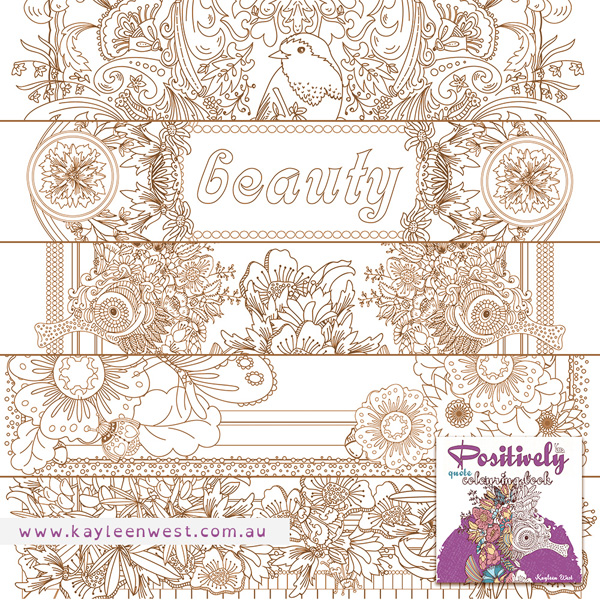 Pages: Positively adult colouring book. Colouring books for adults and teens.