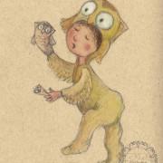 Owl Costume: Childrens illustration
