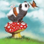 Children's Illustration. Digital illustration Panda wants to fly